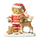 Cherished Teddies 23rd Annual Santa Bear with Fawn Figurine