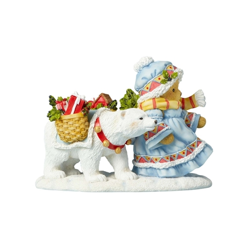 Copy of Cherished Teddies 22nd Christmas Laplander with Polar Bear Figurine