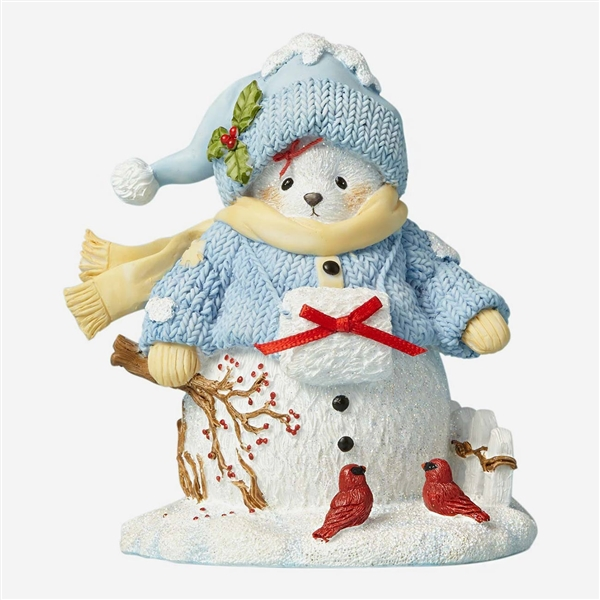 Cherished Teddies 22nd Christmas Laplander with Polar Bear Figurine