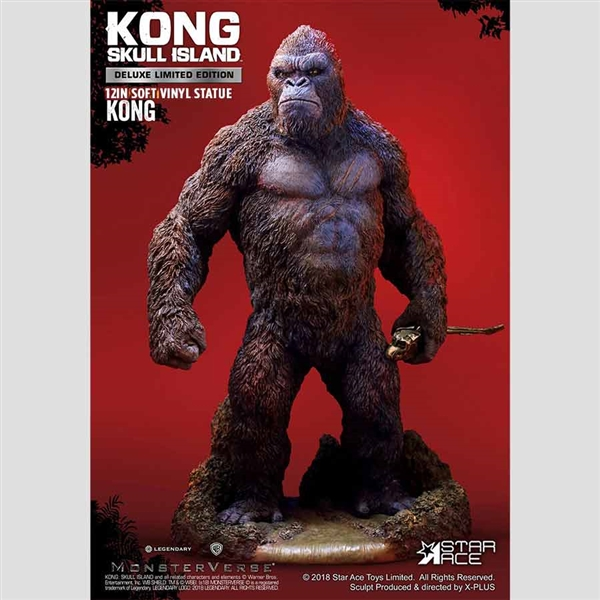 Star Ace / X-Plus Kong: Skull Island 12.5 inch (30cm) Vinyl Statue - Deluxe Version