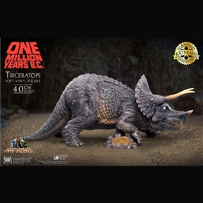 One Million Years B.C. Triceratops Vinyl Figure by Star Ace / X-Plus