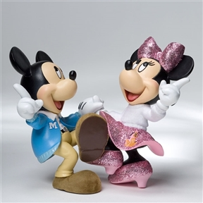 Disney Showcase Mickey Mouse and Minnie Jitterbug Figurine