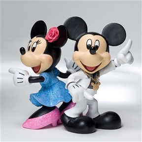 Disney Showcase Mickey and Minnie Disco Figurine