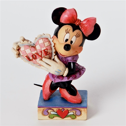 Disney Traditions Minnie Mouse with Valentine Figurine by Jim Shore, 4026085
