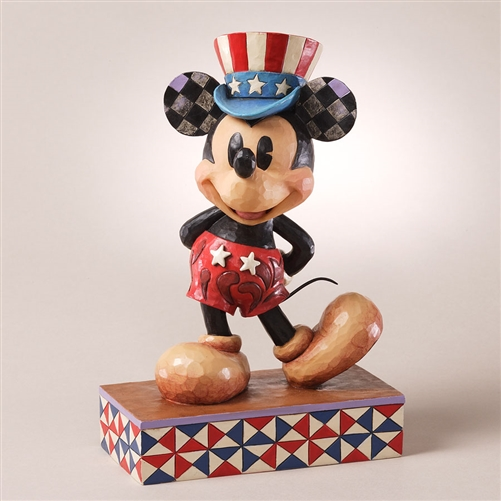 Disney Traditions Patriotic Mickey Mouse Figurine by Jim Shore, 4027133