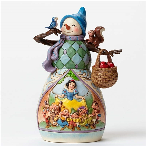 Disney Traditions Snowman with Snow White Scene Figurine by Jim Shore, 4046020