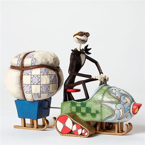 Disney Traditions Jack Skellington on Snowmobile Figurine by Jim Shore, 4046033