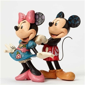 Disney Traditions Mickey and Minnie with Necklace Figurine by Jim Shore, 4046042