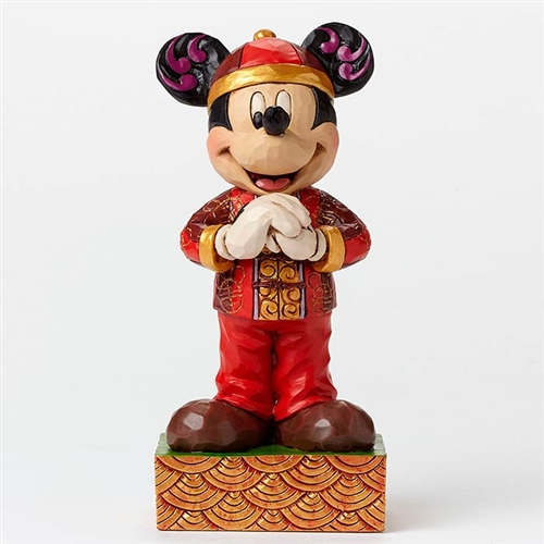 Heartwood Creek Mickey Mouse in China Figurine by Jim Shore, 4046050