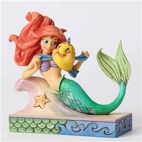Disney Traditions Ariel with Flounder Figurine by Jim Shore, 4054274