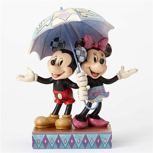 Disney Traditions Mickey and Minnie Mouse Sharing Umbrella Figurine by Jim Shore,  4054280