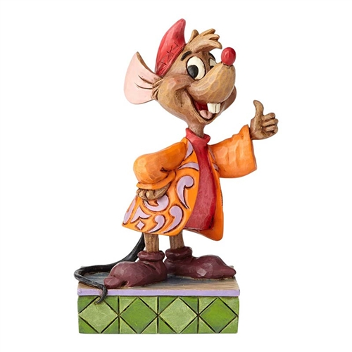 Disney Traditions Jaq Thumbs Up Cinderella Figurine by Jim Shore