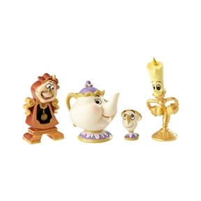 Disney Showcase 'Beauty and the Beast' Enchanted Objects Figurine Set
