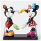 Disney Mickey and Minnie Mouse form a Heart Figurine by Britto
