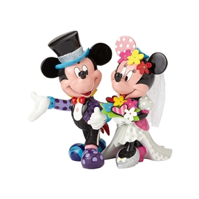 Britto Mickey & Minnie Wedding Figurine by Disney