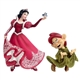 Disney Showcase Holiday Series Couture de Force Snow White and Dopey Figurine Set