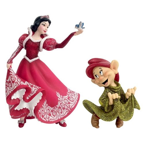 Disney Showcase Holiday Series Couture de Force Snow White and Dopey Figurine Set 4058287