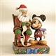 Disney Traditions Mickey Mouse and Santa Figurine by Jim Shore, 4008063