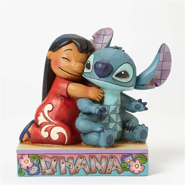 Disney Traditions Lilo Hugging Stitch Figurine by Jim Shore, 4043643