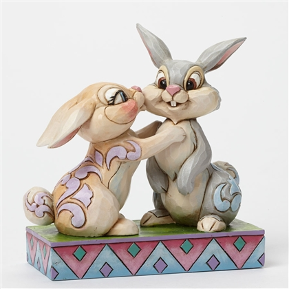 Disney Traditions Thumper and Miss Bunny Kissing by Jim Shore