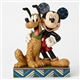 Disney Traditions Mickey and Pluto Figurine by Jim Shore, 4048656
