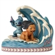 Disney Traditions Lilo and Stitch Riding a Wave Figurine by Jim Shore, 4055407