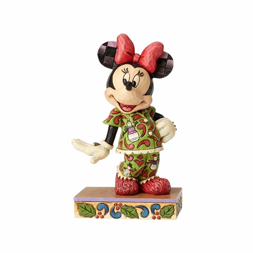 Disney Traditions Minnie in Christmas Pajamas Figurine