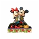 Disney Traditions Mickey and Minnie with Christmas Quilt Figurine 4057937