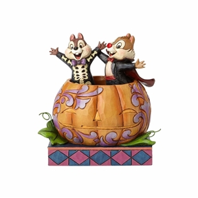 Disney Traditions Chip & Dale in Pumpkin Figurine by Jim Shore