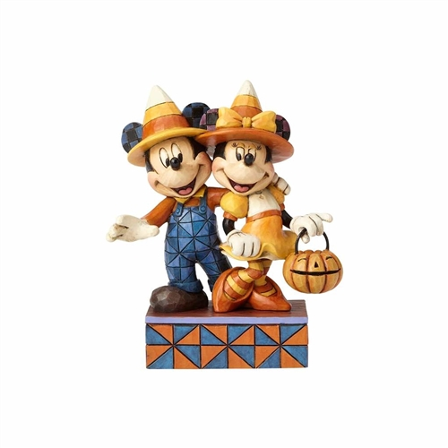 Disney Traditions Candy Corn Mickey & Minnie Figurine by Jim Shore 4057948