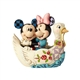 Disney Traditions Mickey and Minnie in Tunnel of Love Swan Figurine