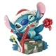 Disney Traditions Santa Stitch Wrapping Present Figurine, 6002833