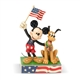 Heartwood Creek Patriotic Mickey Mouse and Pluto Figurine by Jim Shore | 6005975