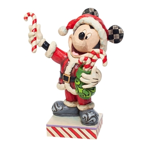 Disney Traditions Santa Mickey with Candy Canes, 6007068