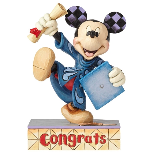 Disney Traditions Graduation Mickey Mouse Figurine