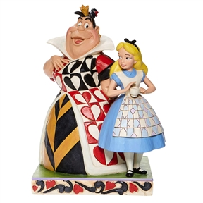 Alice and Queen of Hearts Disney Traditions Figurine, 6008069
