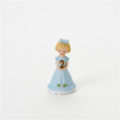 Age 2 Blonde Growing Up Girls Figurine by Enesco E230