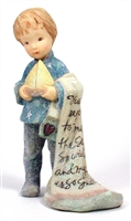 Child Holding A Sail Boat and Blanket - Foundations Figurine, 112031