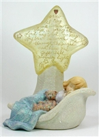 Little Girl Sleeping Under Lighted Star - Foundations Figurine, 112037
