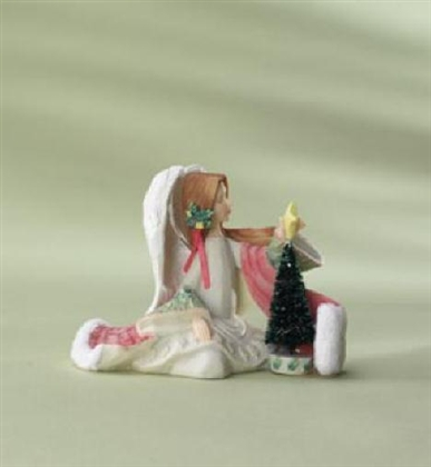 Angel With Christmas Tree - Foundations Figurine, 4008226