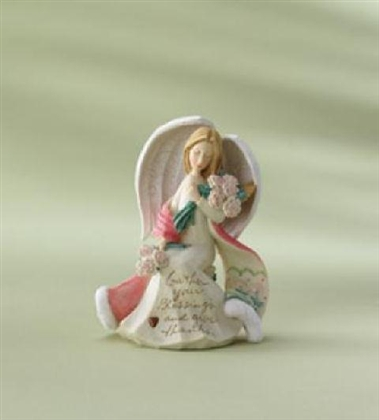 Angel With Christmas Rose - Foundations Figurine, 4008227