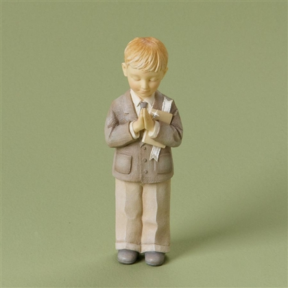 Foundations Boy Communion Figurine, 4020741