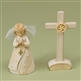 Foundations Girl Communion Figurine And Cross Set 4021239