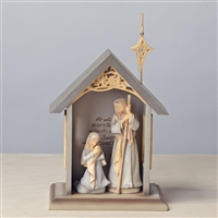 Foundations 'Mini Holy Family Stable Set' 3-pc Figurine, 4032062