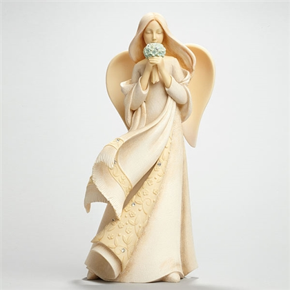 Forget Me Not Angel Figurine by Foundations