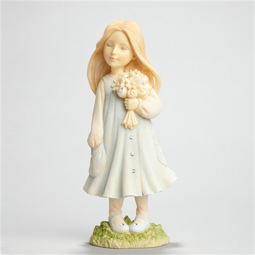 Foundations 'I love you, Grandma' Girl with Flowers Figurine
