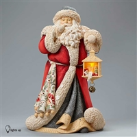 Foundations Deluxe Santa Masterpiece Heart of Christmas Figurine, 4046823