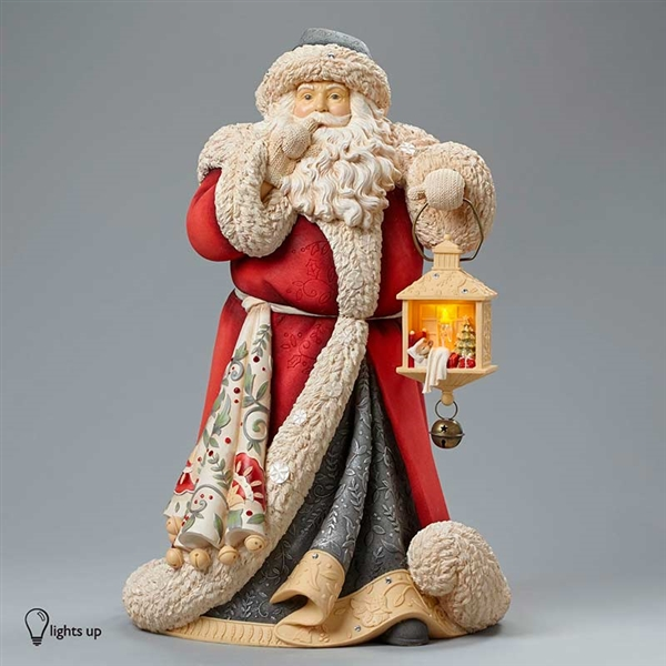 foundations deluxe santa masterpiece heart of christmas figurine 4046823 larger photo email a friend