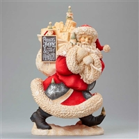 Foundations Santa with Toy Bag Heart of Christmas Figurine, 4046826