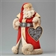 Foundations Santa with Heart Sign Christmas Figurine, 4046827